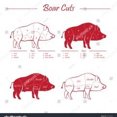 Pig Cuts Diagram Absolute Encoder Wiring Illustration