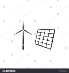 wind mill turbines generating electricity and solar panel icon isolated energy alternative concept of [ 1500 x 1600 Pixel ]