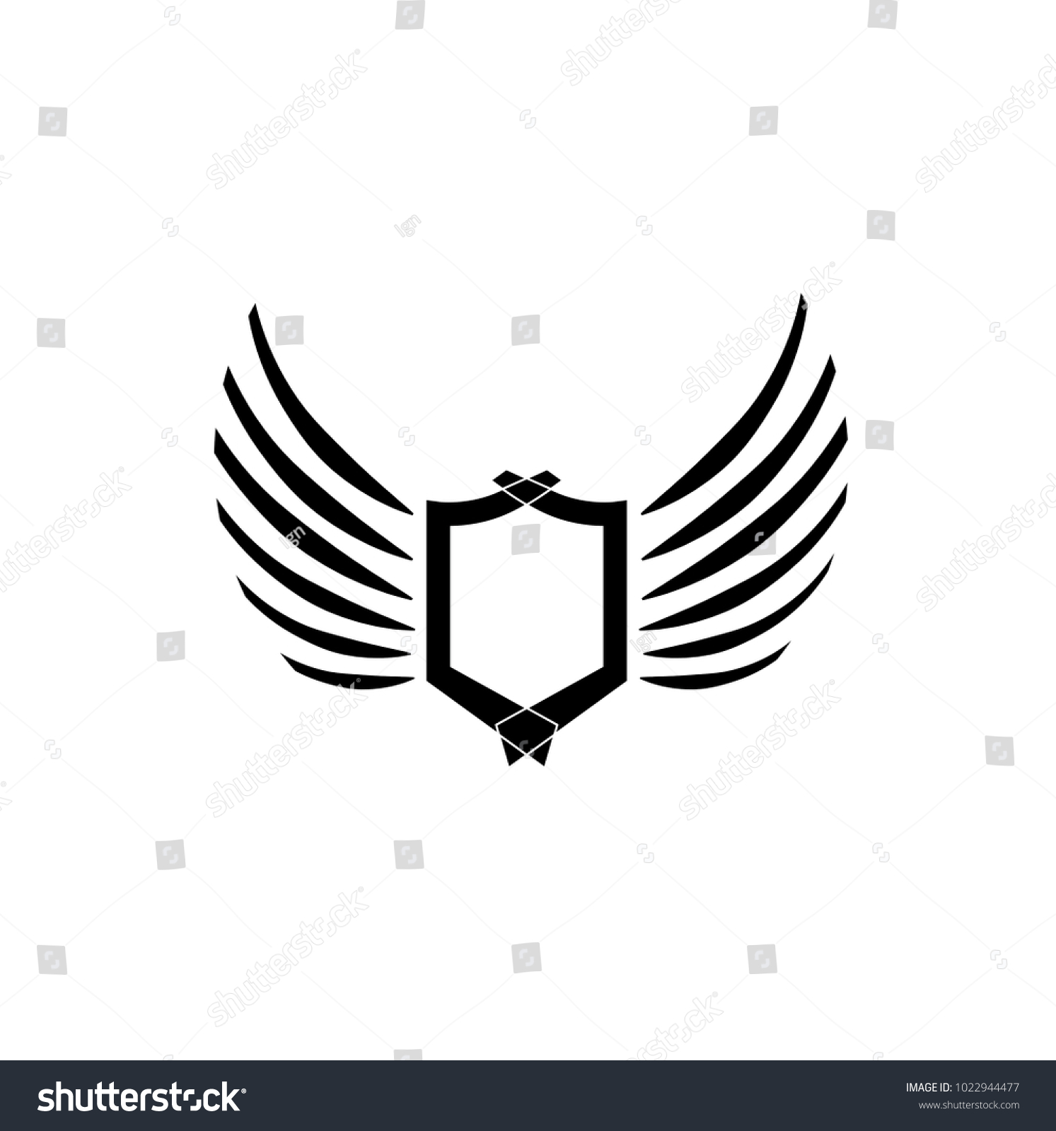 eagle wing diagram what is an indicator wings logo vector icon sign graphic illustration symbol id 1022944477