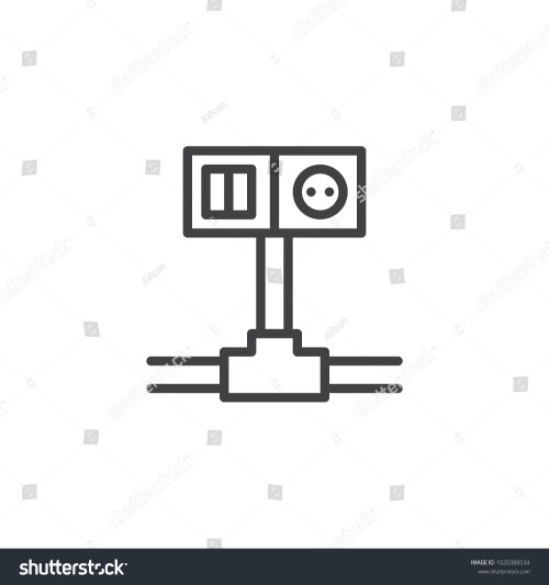 small resolution of wiring switch and socket line icon outline vector sign linear style pictogram isolated on