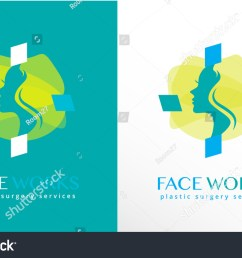 woman face silhouette inside an abstract cross shape modern logo icon [ 1500 x 988 Pixel ]