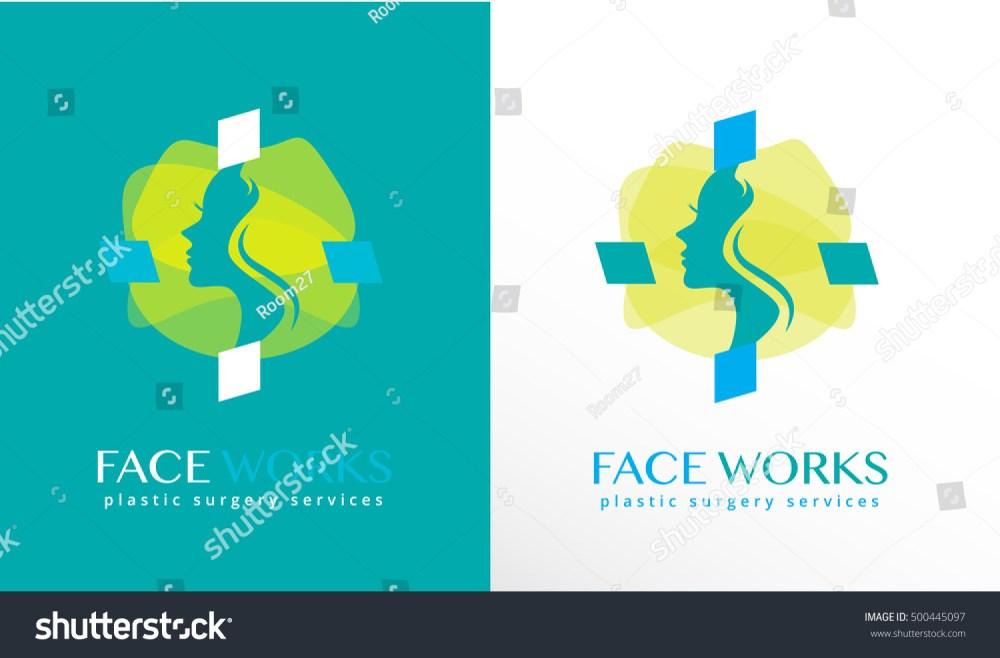 medium resolution of woman face silhouette inside an abstract cross shape modern logo icon