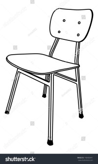 Wooden School Chair Used In The Classroom With The Stand ...