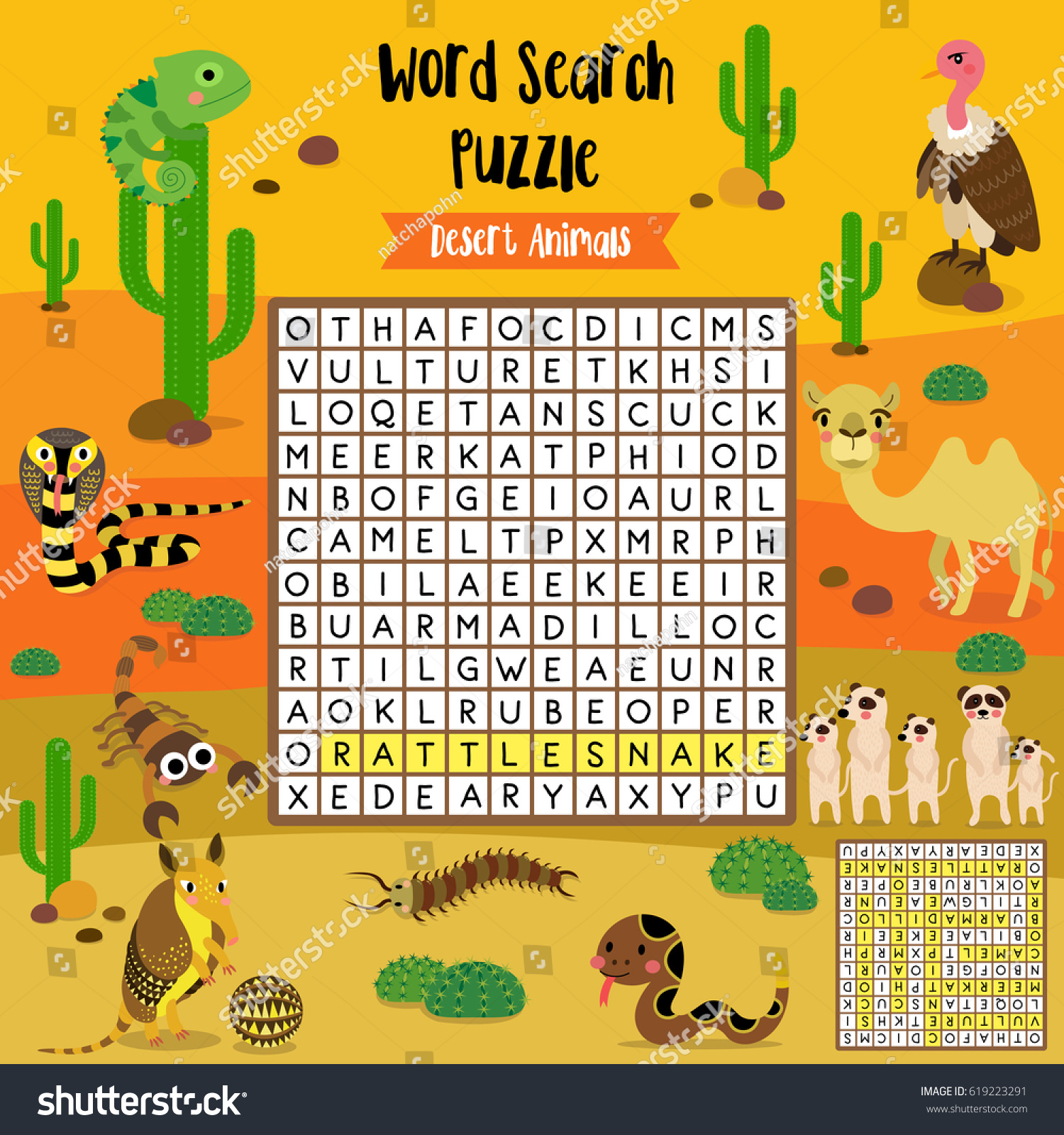 African Animal Worksheet Printables