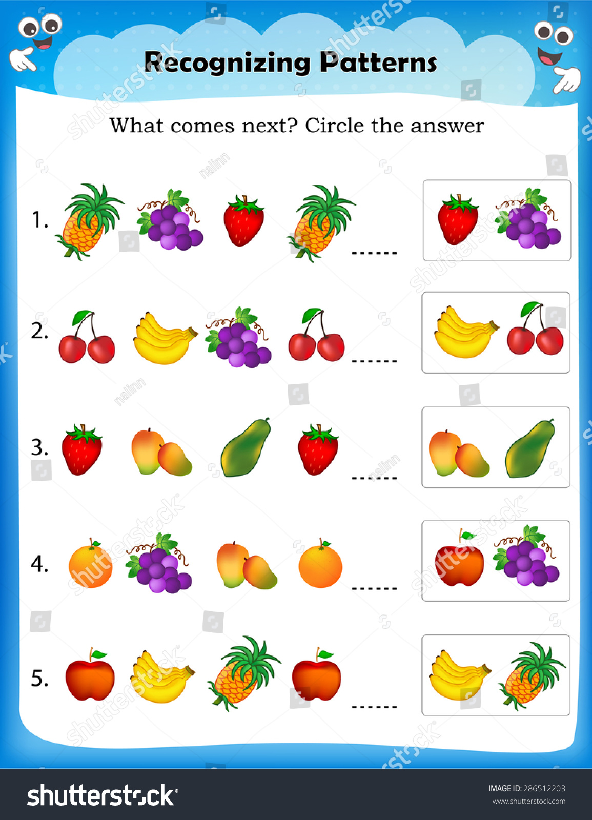 Worksheet Understanding Patterns