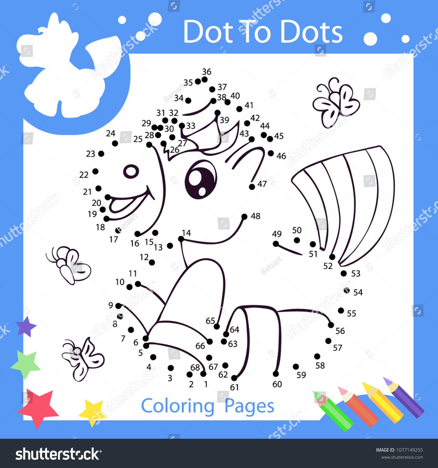 50 Dot To Dot For Kids Unicorn