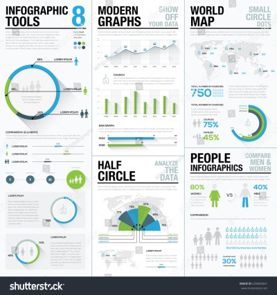 World Map Infographics Business Visualization Vector Stock ...