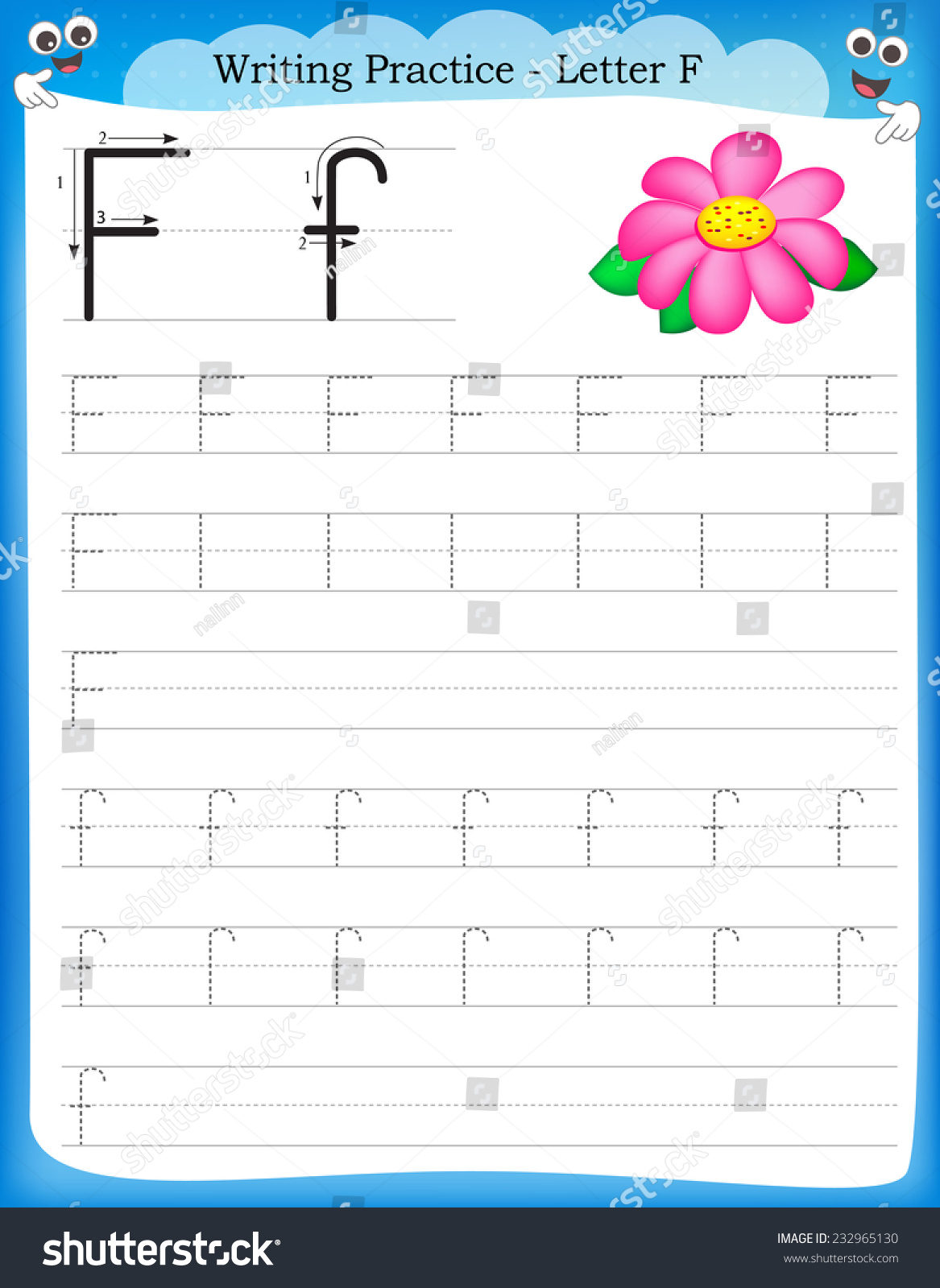 F Free Alphabet Handwriting Worksheets Worksheets
