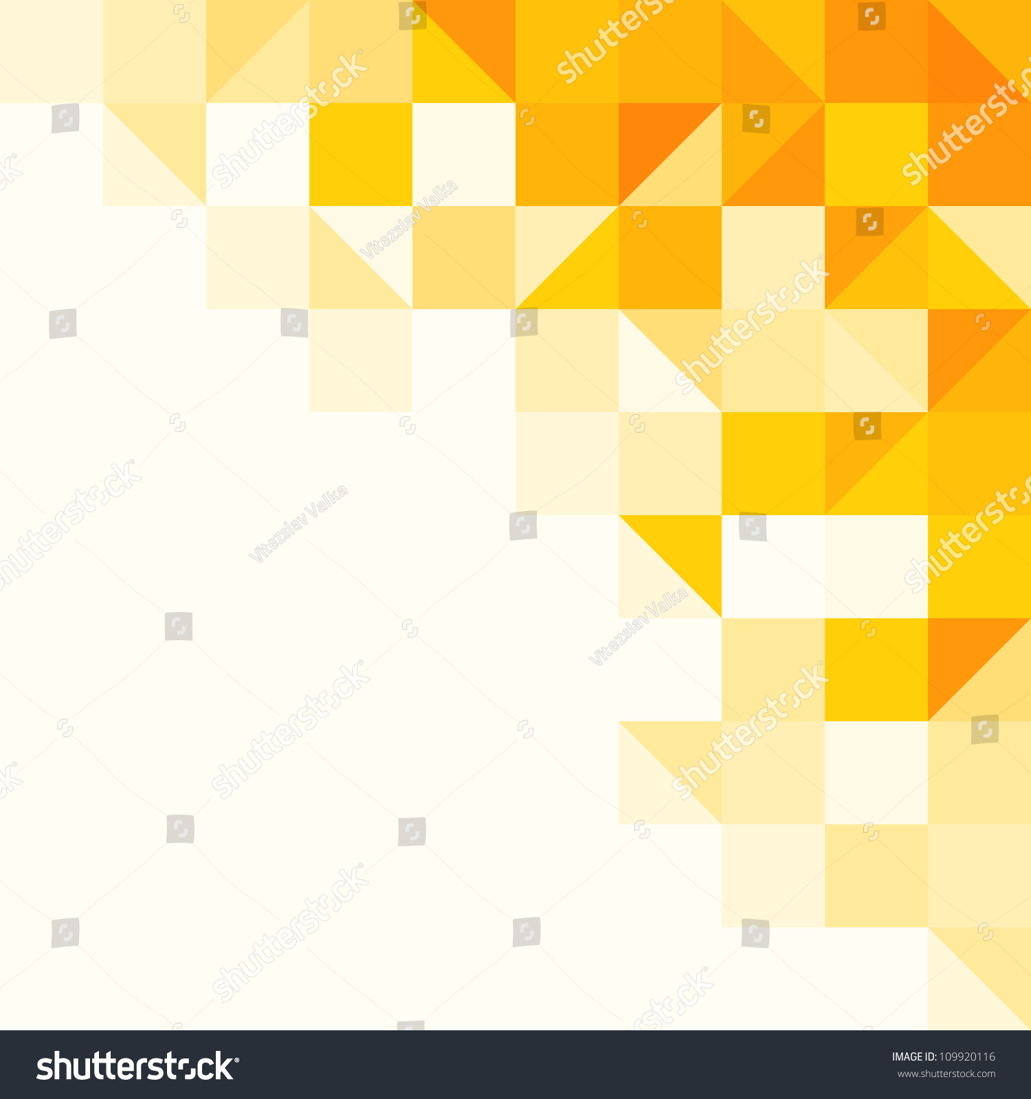 Yellow Abstract Pattern Triangle Square Pattern Stock