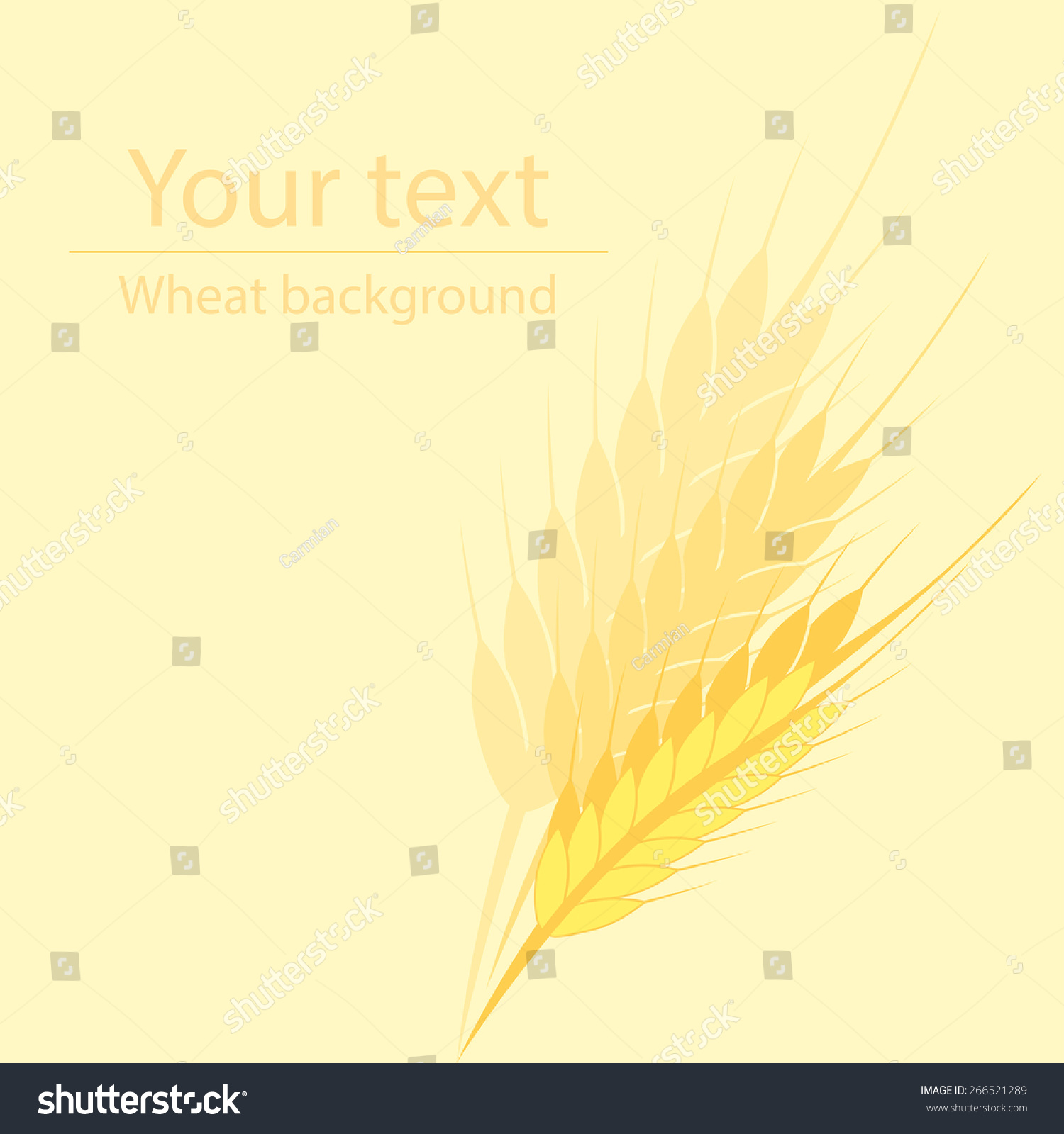 hight resolution of yellow background for a label or a poster with a picture of wheat ears