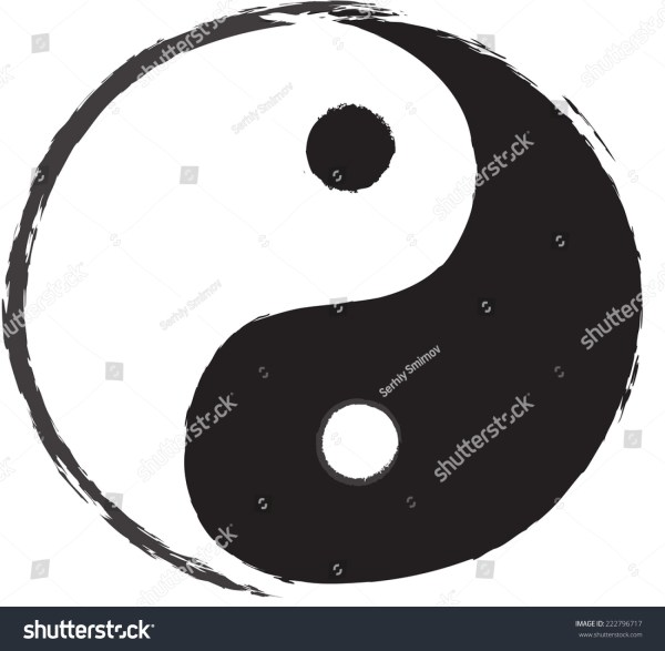 Yin Yang Symbol Drawing Stock Vector 222796717 Shutterstock