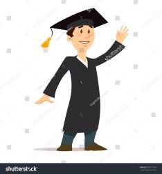 cartoon graduation student graduate vector students education character college university young successful illustration shutterstock knowledge