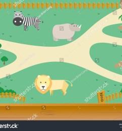 zoo and animal vector [ 1500 x 1225 Pixel ]