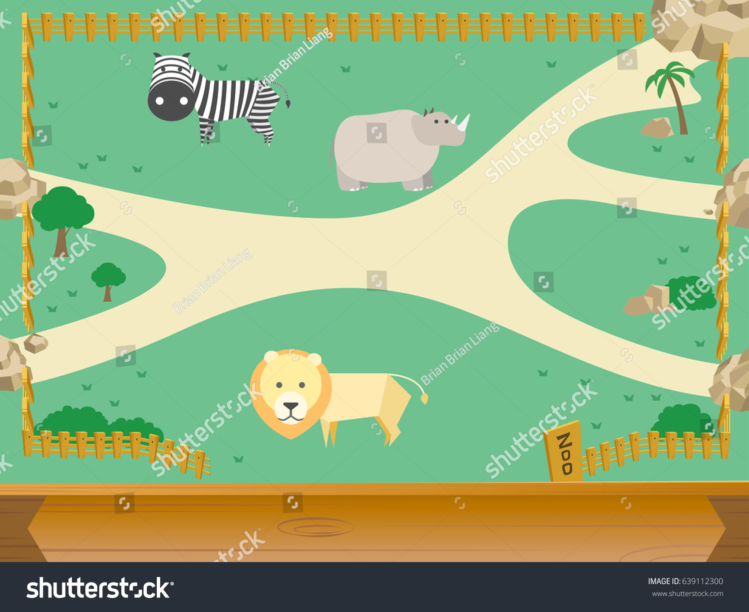 hight resolution of zoo and animal vector
