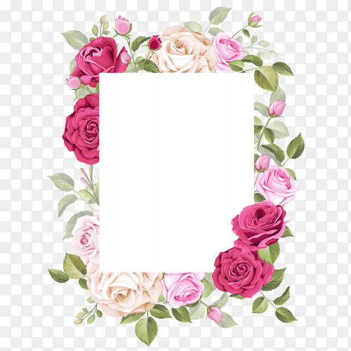 cute wedding invitation card vector png