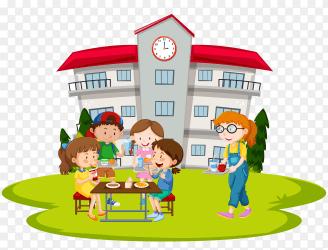 Happy cute cartoon school children Premium Vector PNG Similar PNG