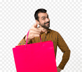 Man with shopping bags PNG Similar PNG
