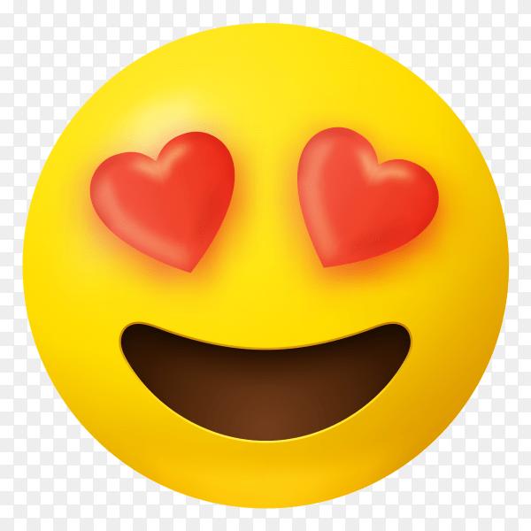 Download 3D cute love emoji vector PNG - Similar PNG