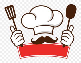 Restaurant logo with chef drawing template on transparent background PNG Similar PNG