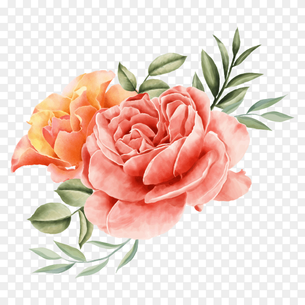 floral design wedding invitation vector