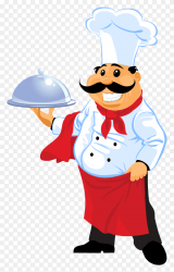 Happy meal carried by experd chef vector PNG Similar PNG