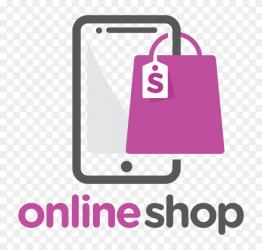 Online shop logo template on transparent background PNG Similar PNG