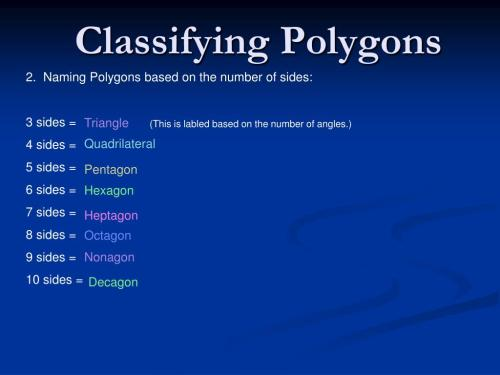 small resolution of PPT - Polygon Worksheet PowerPoint Presentation