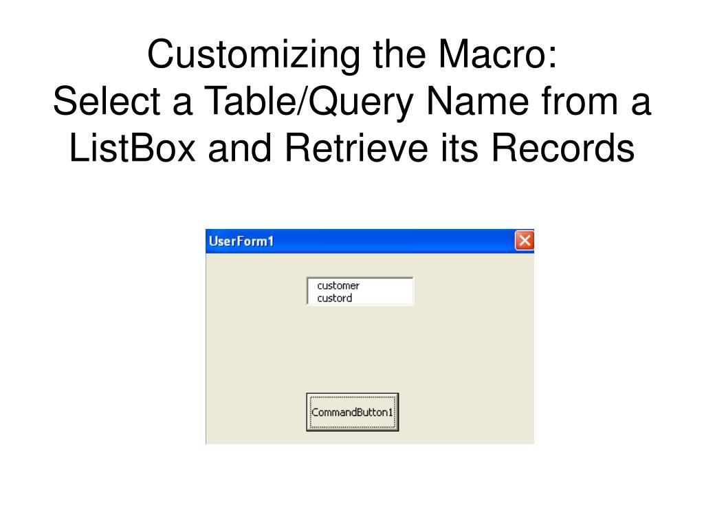 Excel Macro Worksheet Range Select