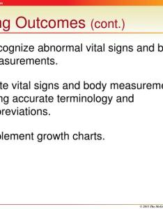 Learning outcomes cont recognize abnormal vital signs also ppt obtaining and measurements powerpoint presentation rh slideserve