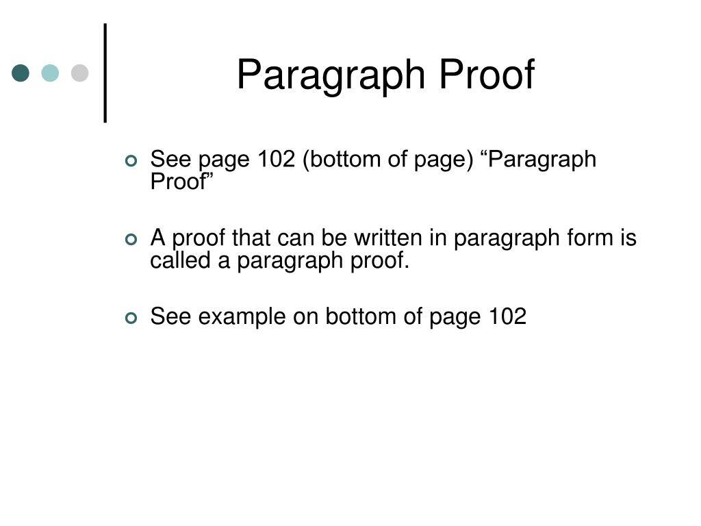 Paragraph Proof Geometry Example