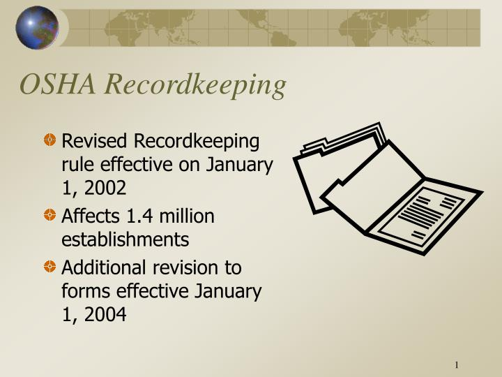 ppt osha recordkeeping powerpoint presentation