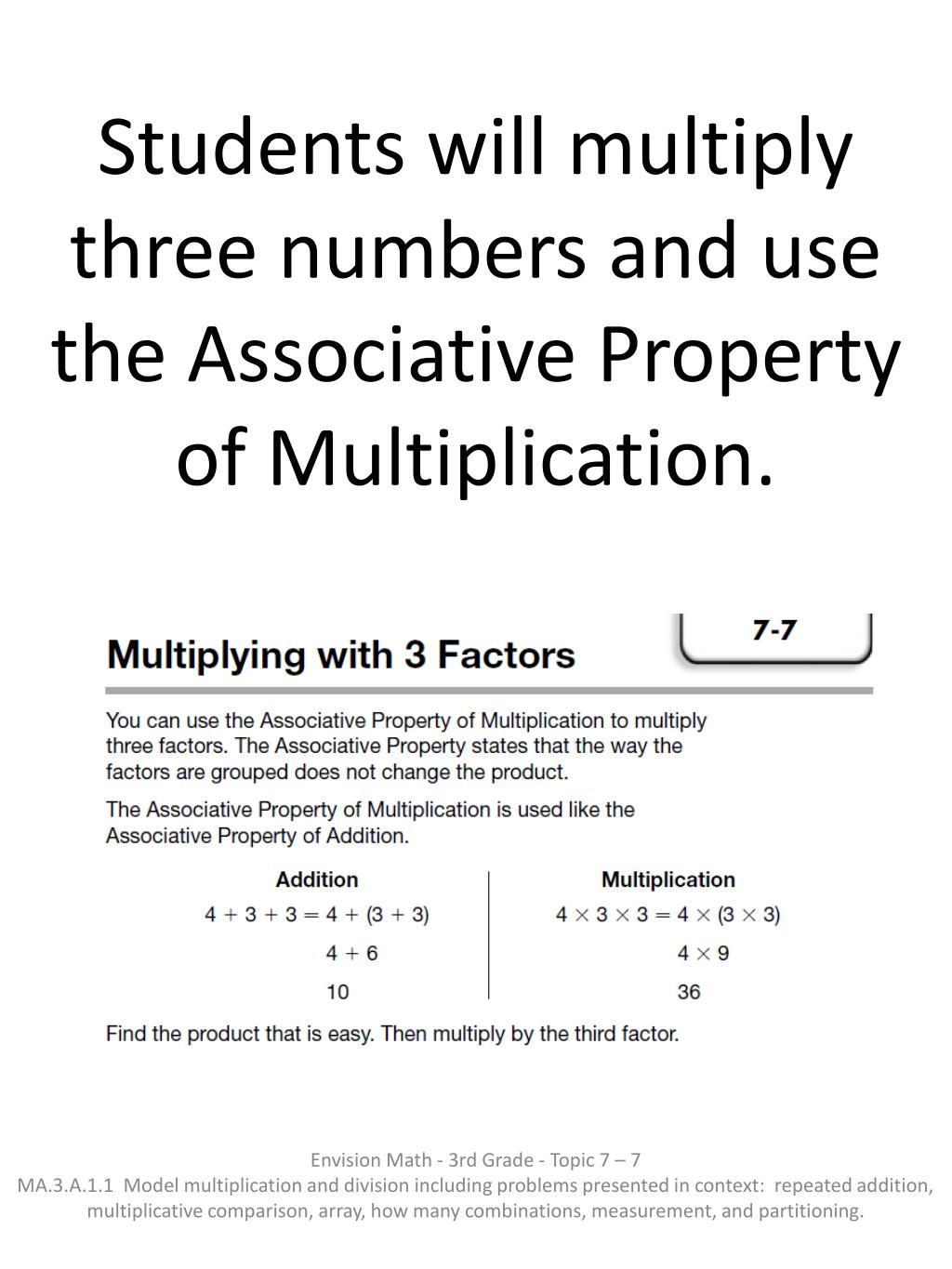 hight resolution of PPT - Students use patterns to multiply by 3 as a factor by using skip  counting