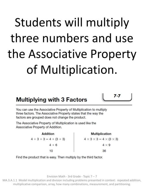 small resolution of PPT - Students use patterns to multiply by 3 as a factor by using skip  counting