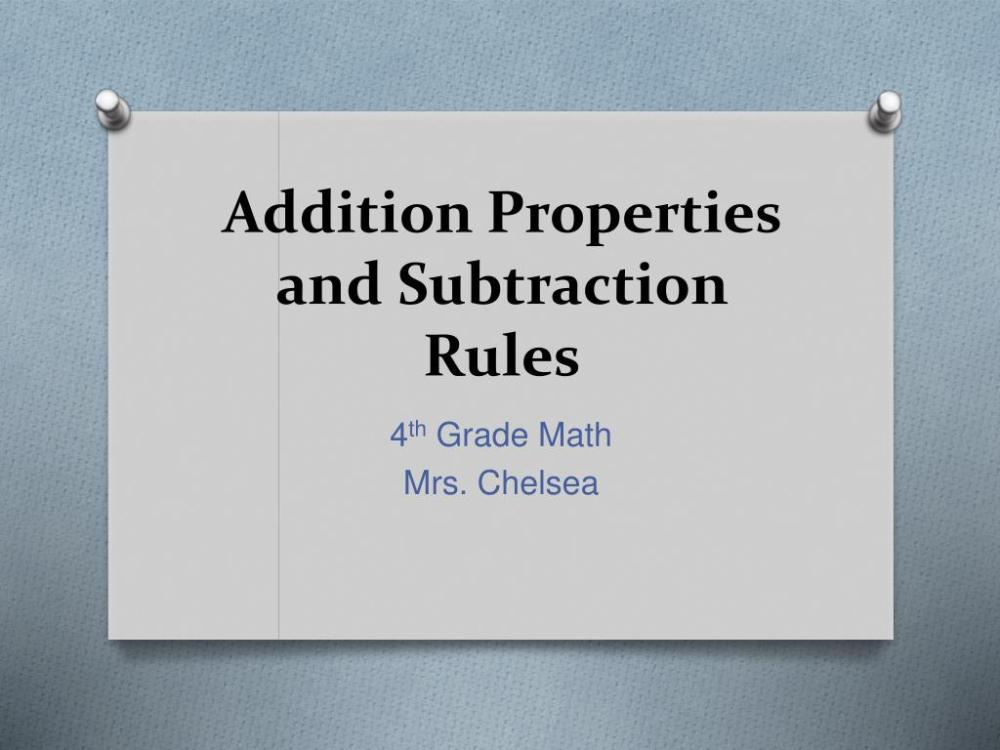 medium resolution of PPT - Addition Properties and Subtraction Rules PowerPoint Presentation -  ID:1149701
