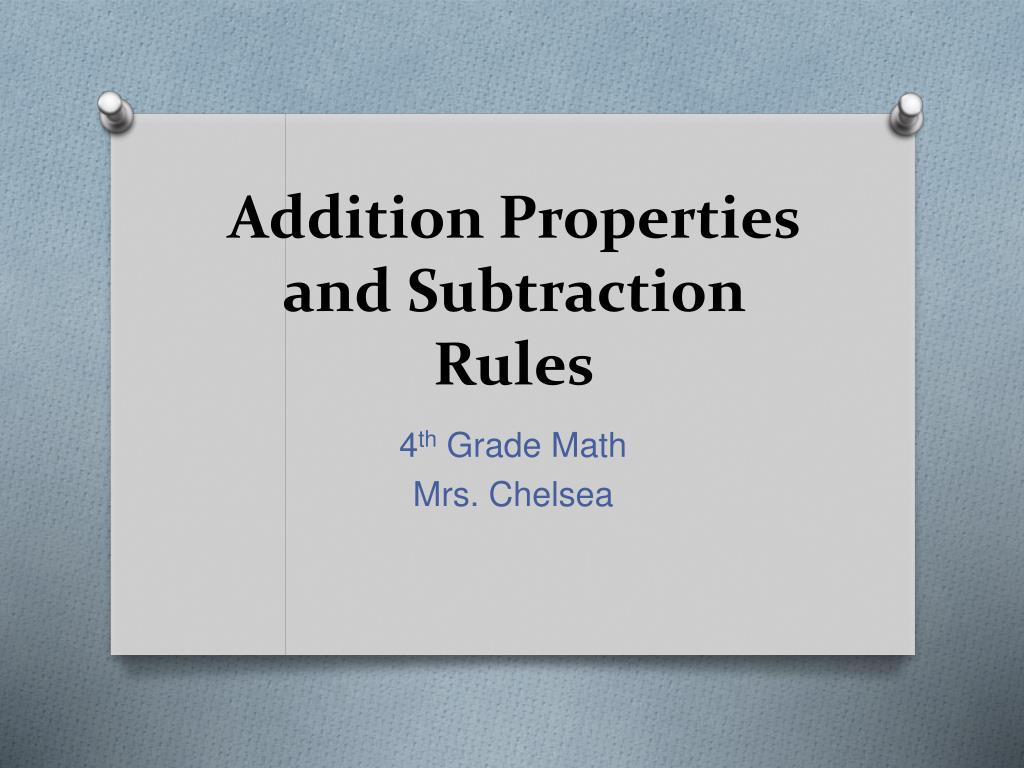 hight resolution of PPT - Addition Properties and Subtraction Rules PowerPoint Presentation -  ID:1149701
