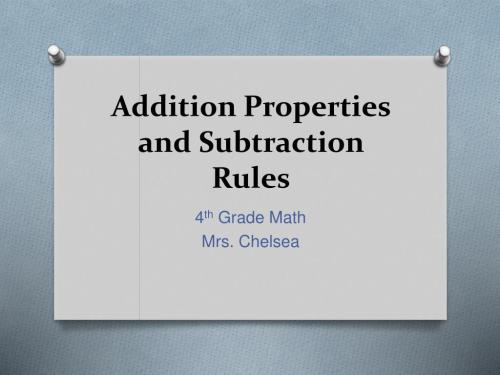 small resolution of PPT - Addition Properties and Subtraction Rules PowerPoint Presentation -  ID:1149701