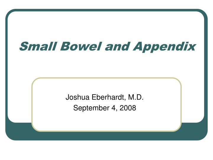 PPT - Small Bowel and Appendix PowerPoint Presentation. free download - ID:1191515