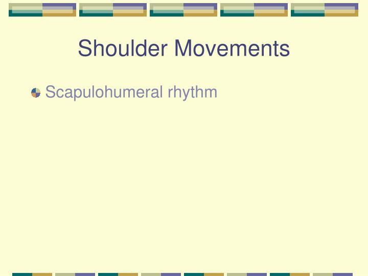 Thoracic Rhythm Scapular