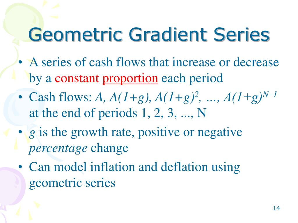 PPT - Conversion for Arithmetic Gradient Series Conversion for Geometric Gradient Series Quiz Review Project Review PowerPoint Presentation - ID ...