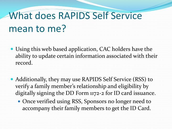 Rapids Id Self Service