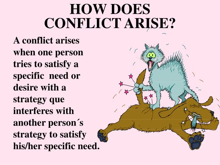 PPT - HOW DOES CONFLICT ARISE? PowerPoint Presentation ...