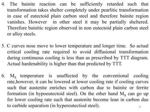small resolution of 4 the bainite reaction can be sufficiently retarded such