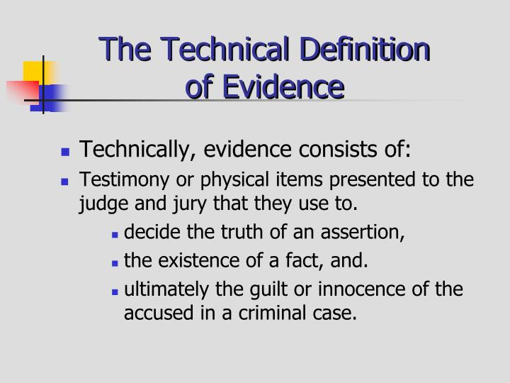 PPT  Criminal Evidence PowerPoint Presentation  ID1402447