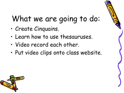small resolution of PPT - Cinquain PowerPoint Presentation