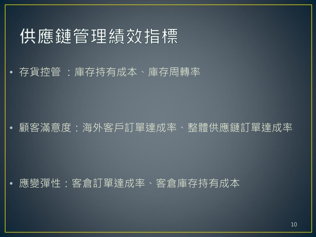 PPT - 供應商代管庫存模式在緊固件供應鏈之企業動態經營研究 PowerPoint Presentation - ID:1435089