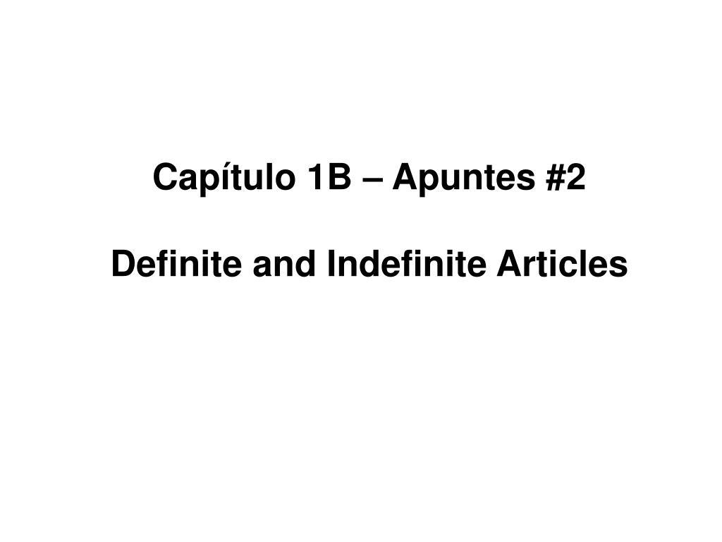 PPT - Capítulo 1B