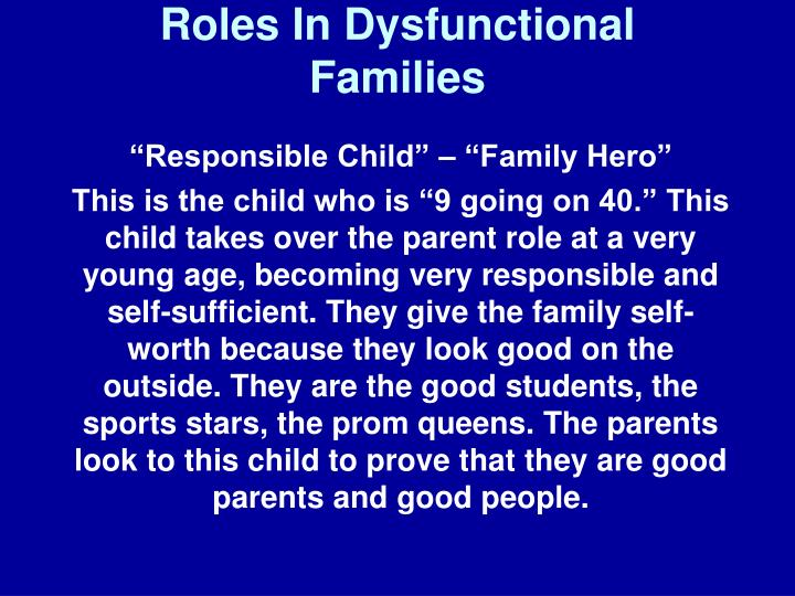 ppt roles in dysfunctional