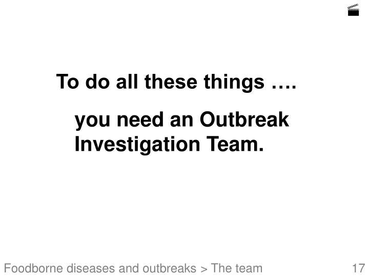 Foodborne disease outbreak investigation epidemiology case