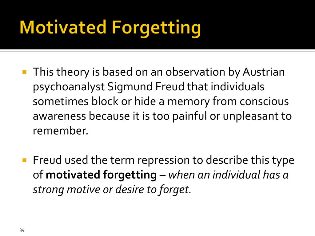 PPT - Chapter 7 – Forgetting PowerPoint Presentation free ...