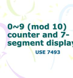 0 9 mod 10 counter and 7 segment display use 7493 [ 1024 x 768 Pixel ]